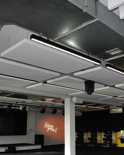 Cloud Panels And Baffle Beams Ecoplus Systems